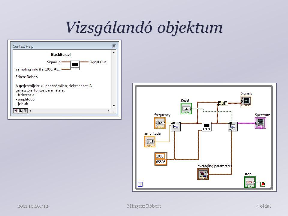 Vizsgálandó objektum Mingesz Róbert4 oldal2011.10.10./12.