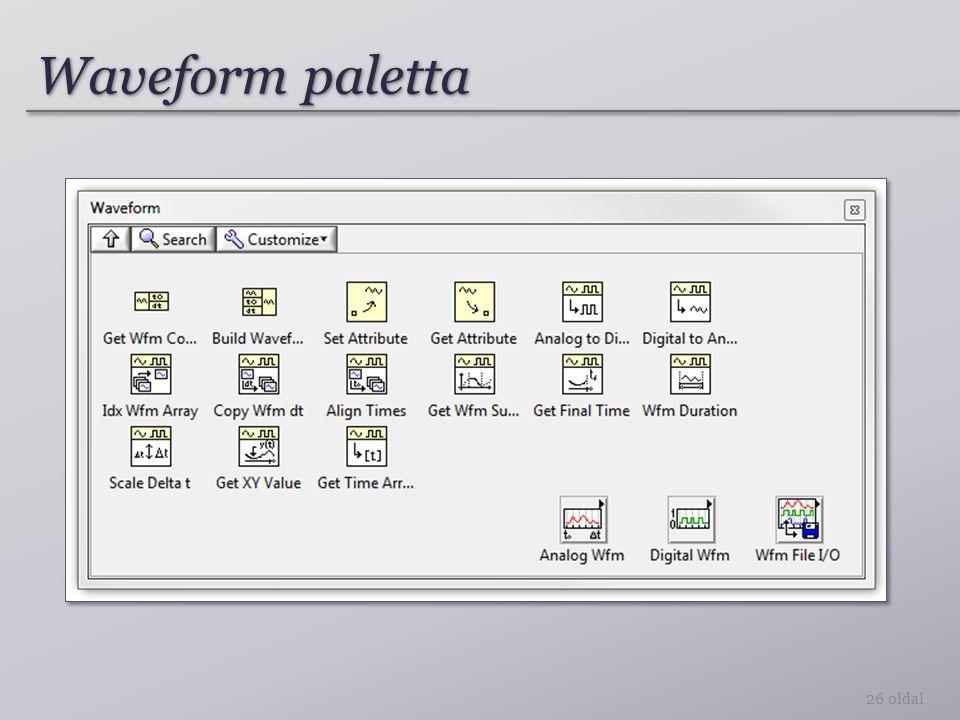 Waveform paletta 26 oldal