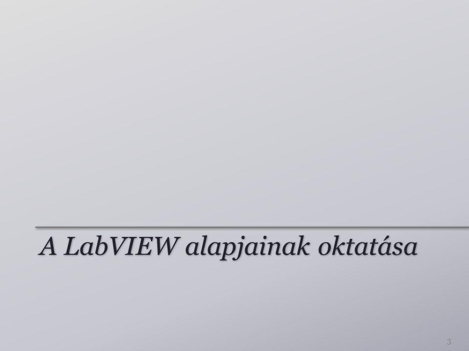 A LabVIEW alapjainak oktatása 3
