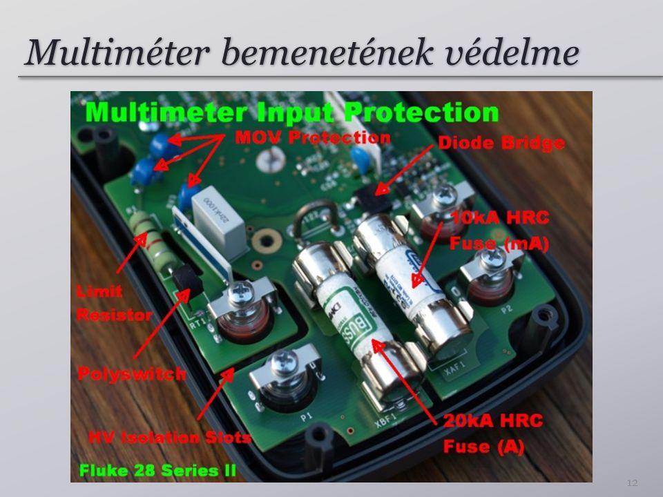 Multiméter bemenetének védelme 12