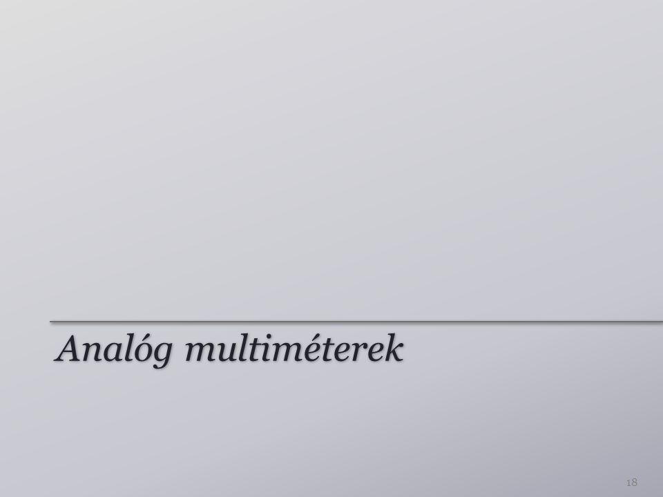 Analóg multiméterek 18