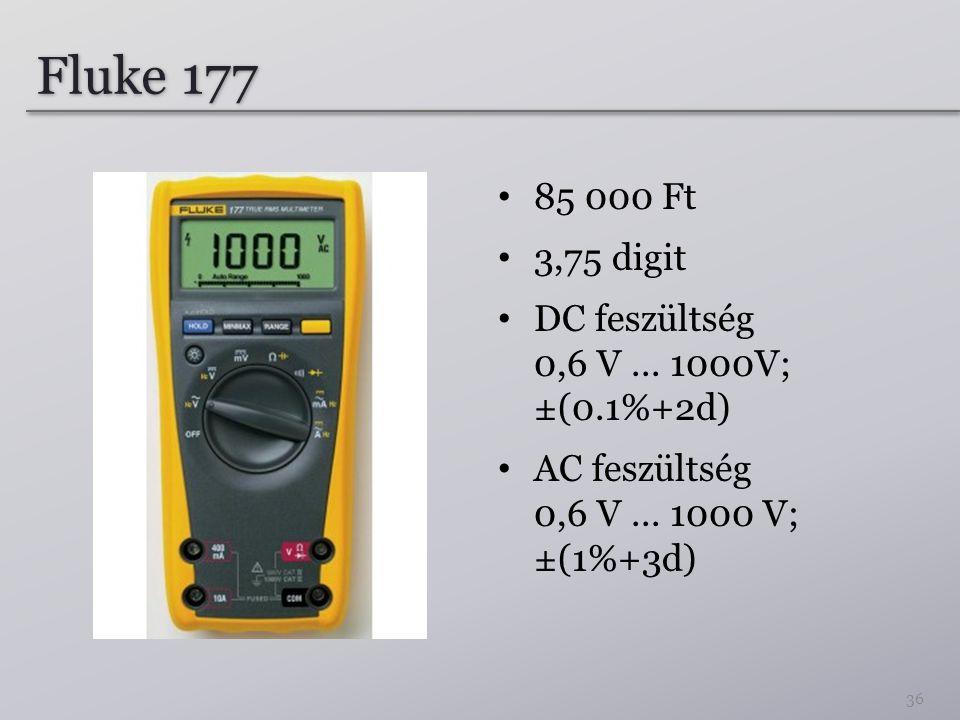 Fluke 177 85 000 Ft 3,75 digit DC feszültség 0,6 V...