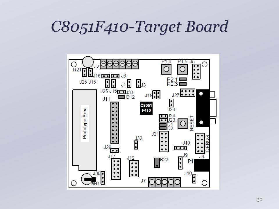 C8051F410-Target Board 30