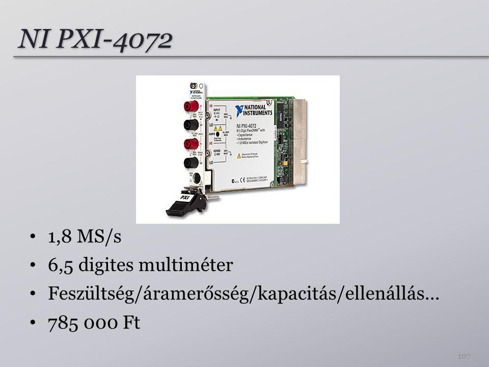 NI PXI-4072 1,8 MS/s 6,5 digites multiméter Feszültség/áramerősség/kapacitás/ellenállás...