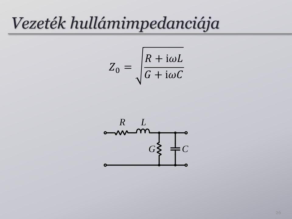 Vezeték hullámimpedanciája 26