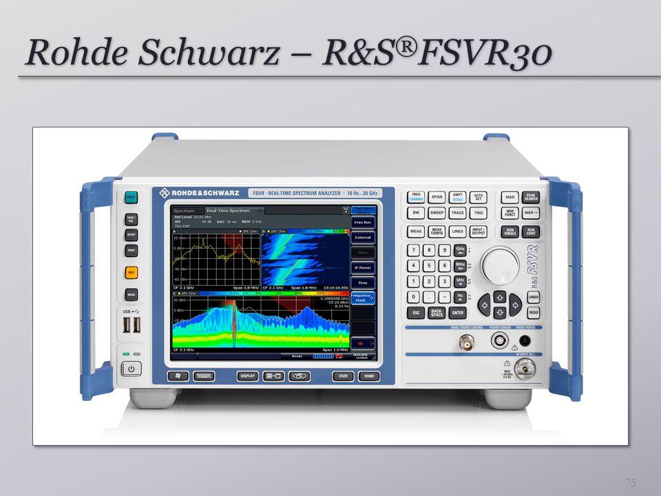 Rohde Schwarz – R&S ® FSVR30 75