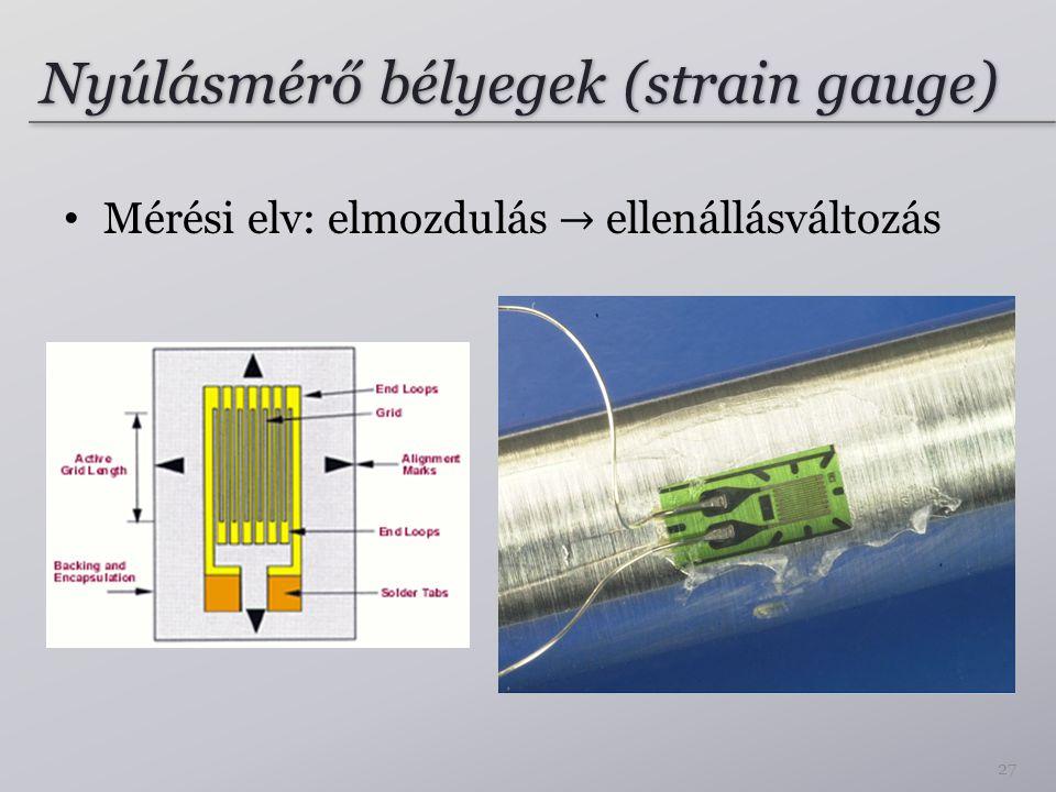 Nyúlásmérő bélyegek (strain gauge) 27