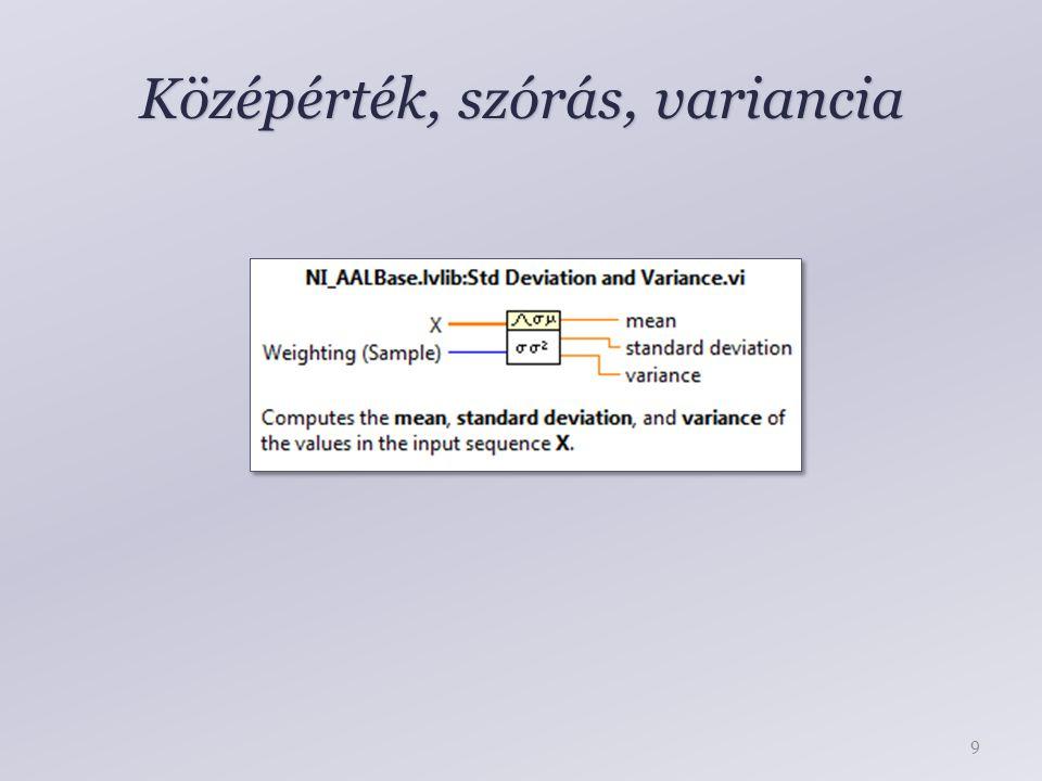 Középérték, szórás, variancia 9