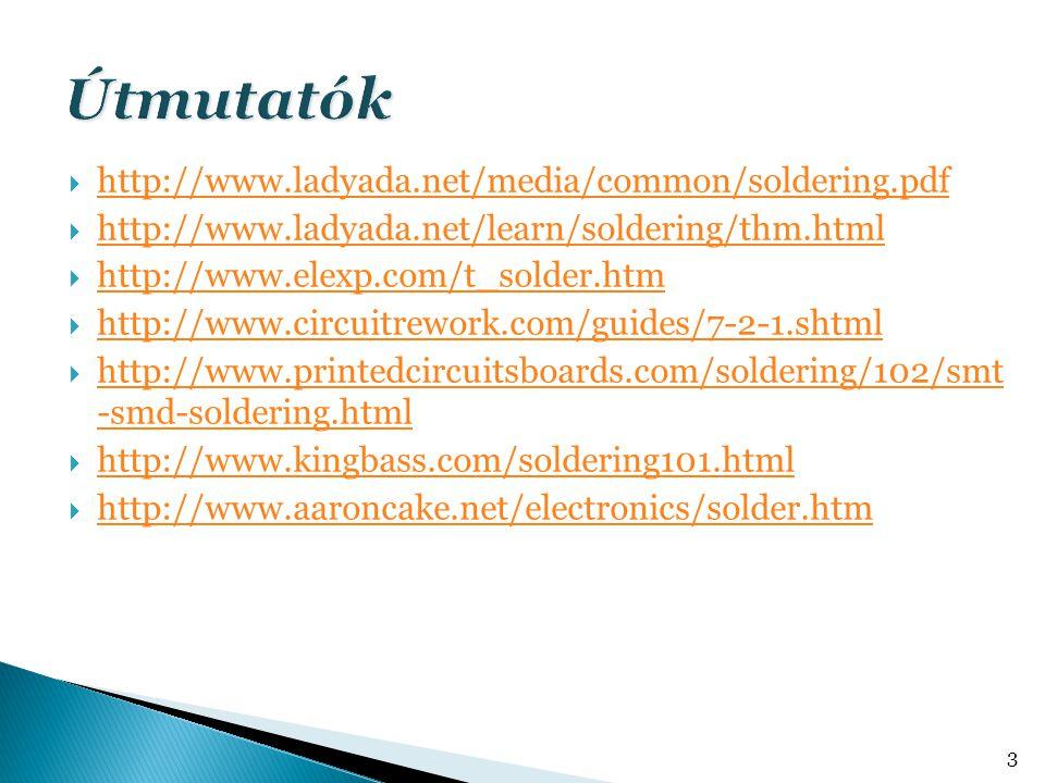  http://www.ladyada.net/media/common/soldering.pdf http://www.ladyada.net/media/common/soldering.pdf  http://www.ladyada.net/learn/soldering/thm.html http://www.ladyada.net/learn/soldering/thm.html  http://www.elexp.com/t_solder.htm http://www.elexp.com/t_solder.htm  http://www.circuitrework.com/guides/7-2-1.shtml http://www.circuitrework.com/guides/7-2-1.shtml  http://www.printedcircuitsboards.com/soldering/102/smt -smd-soldering.html http://www.printedcircuitsboards.com/soldering/102/smt -smd-soldering.html  http://www.kingbass.com/soldering101.html http://www.kingbass.com/soldering101.html  http://www.aaroncake.net/electronics/solder.htm http://www.aaroncake.net/electronics/solder.htm 3