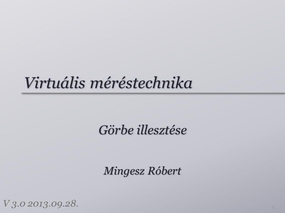 Virtuális méréstechnika Görbe illesztése 1 Mingesz Róbert V 3.0 2013.09.28.