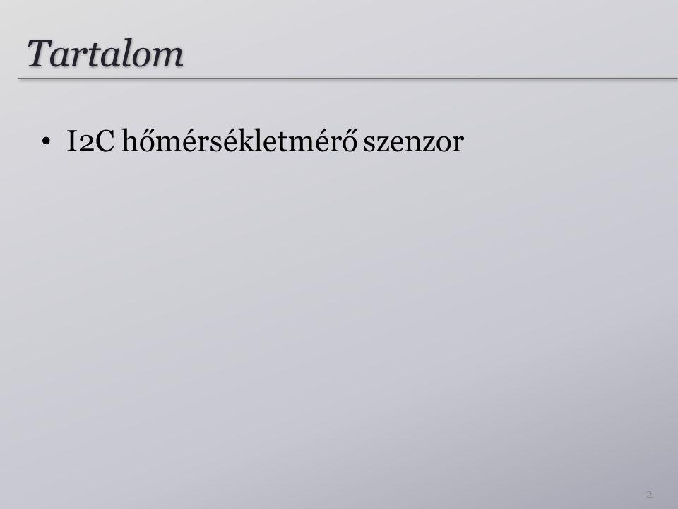 Tartalom I2C hőmérsékletmérő szenzor 2