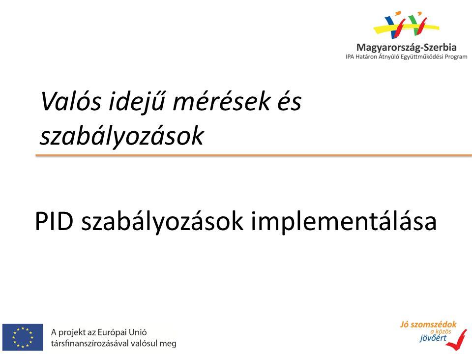 Valós idejű mérések és szabályozások PID szabályozások implementálása