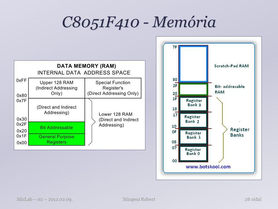 C8051F410 - Memória Mingesz RóbertMicLab – 02 – 2012.02.09.28 oldal