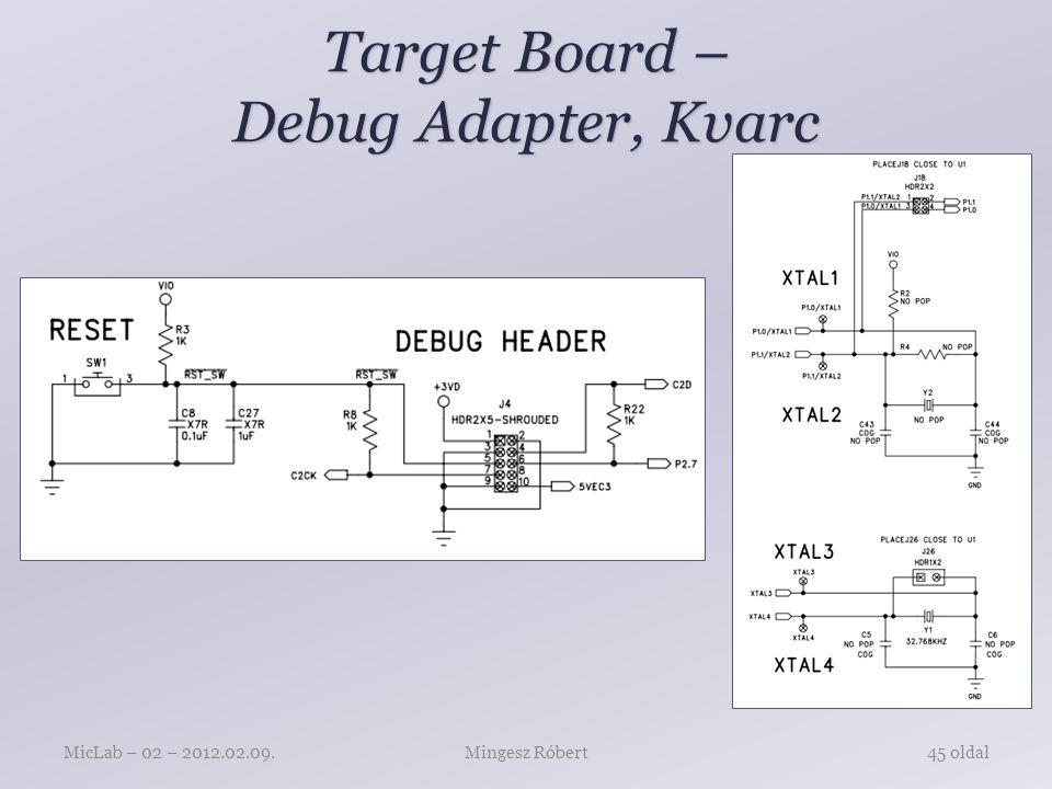 Target Board – Debug Adapter, Kvarc Mingesz RóbertMicLab – 02 – 2012.02.09.45 oldal