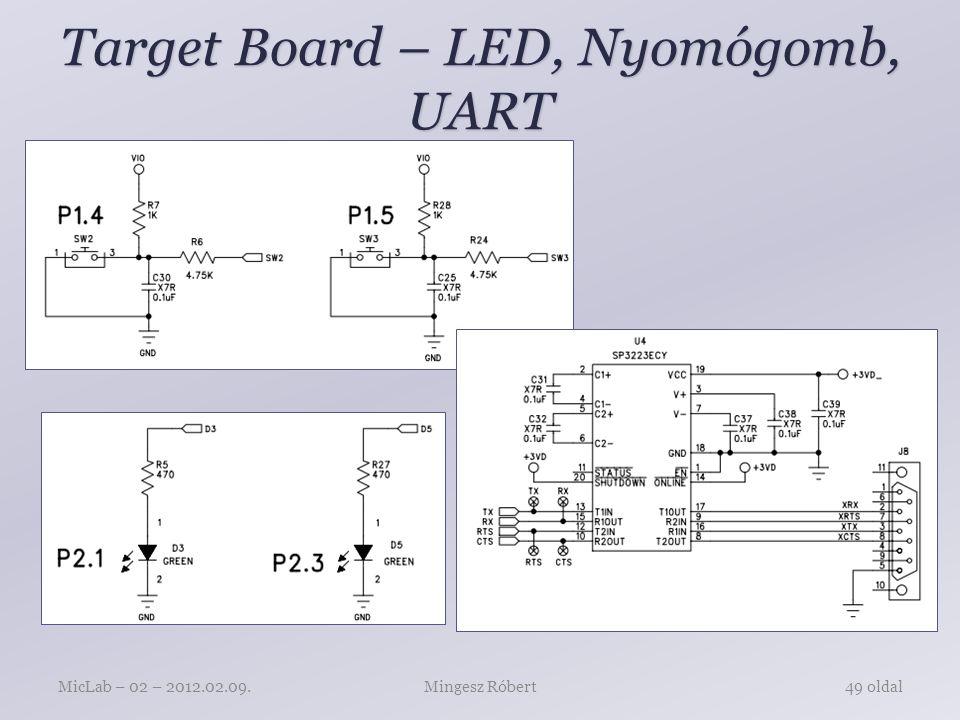 Target Board – LED, Nyomógomb, UART Mingesz RóbertMicLab – 02 – 2012.02.09.49 oldal