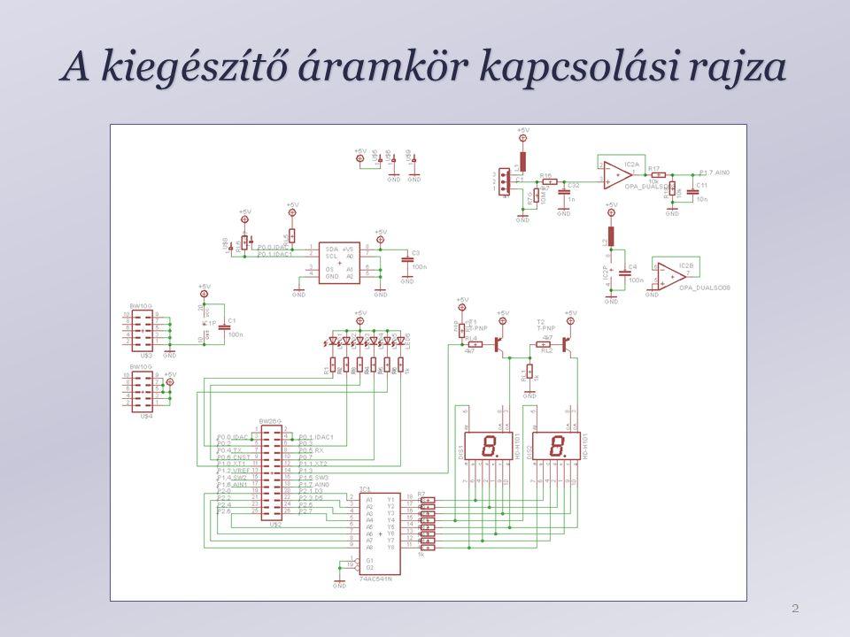 A kiegészítő áramkör kapcsolási rajza 2
