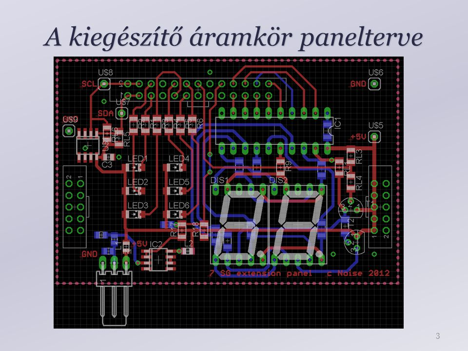 A kiegészítő áramkör panelterve 3