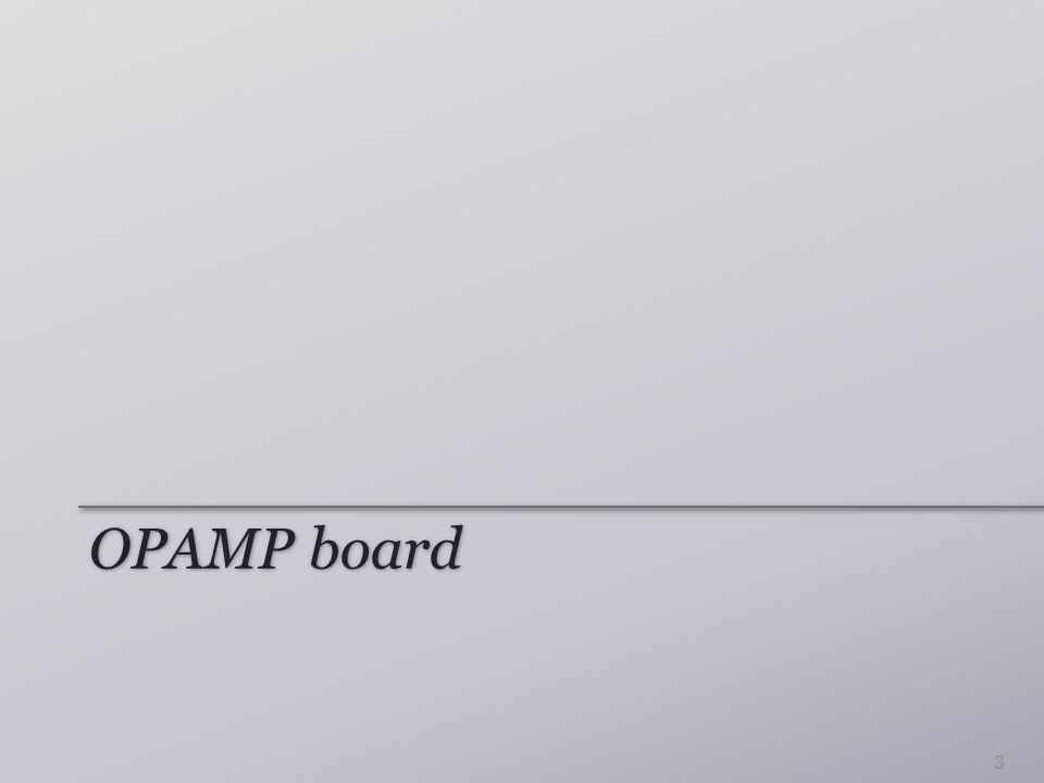 OPAMP board 3