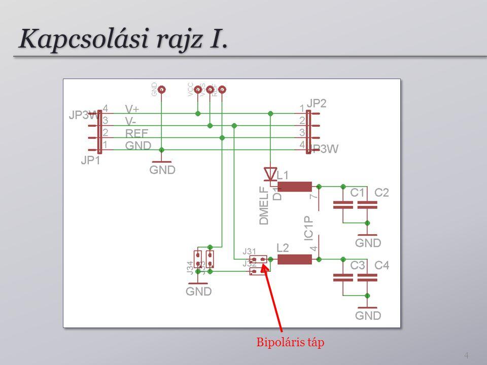 Kapcsolási rajz I. 4 Bipoláris táp