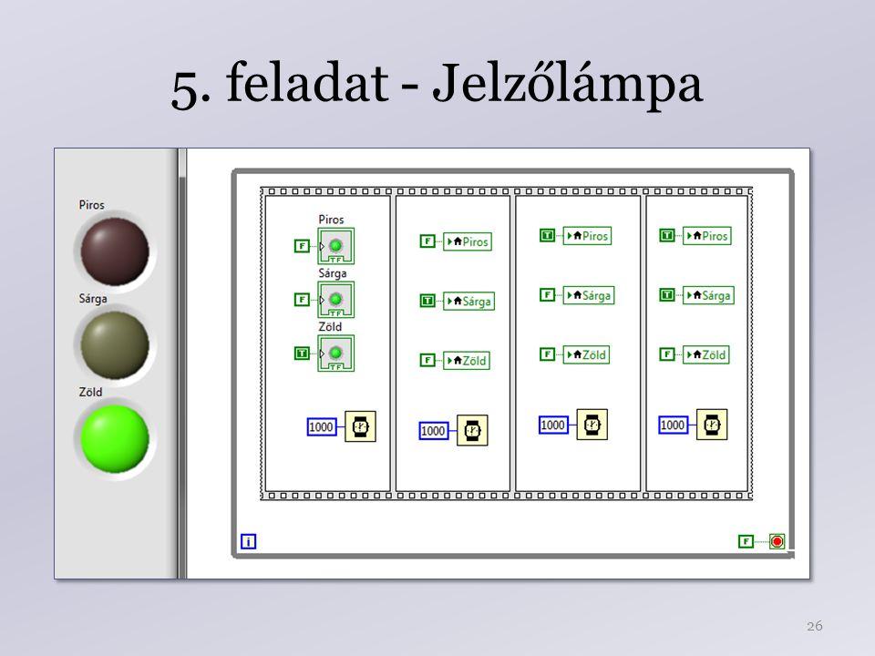 5. feladat - Jelzőlámpa 26