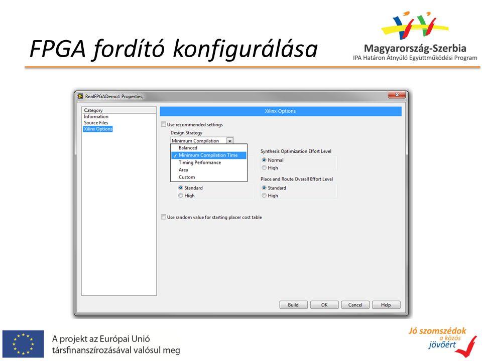 FPGA fordító konfigurálása
