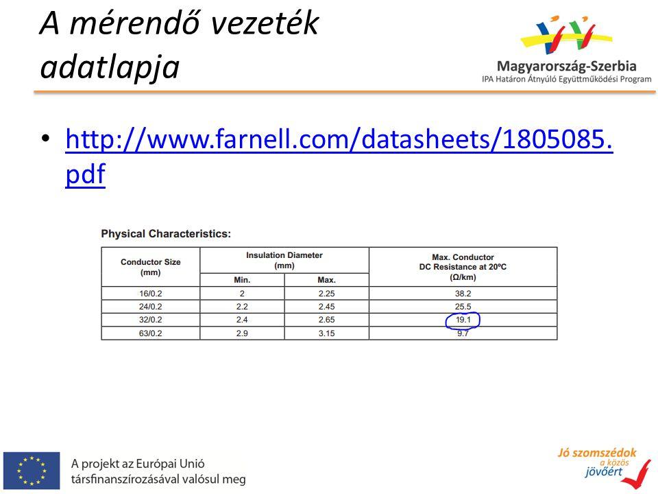 A mérendő vezeték adatlapja http://www.farnell.com/datasheets/1805085.