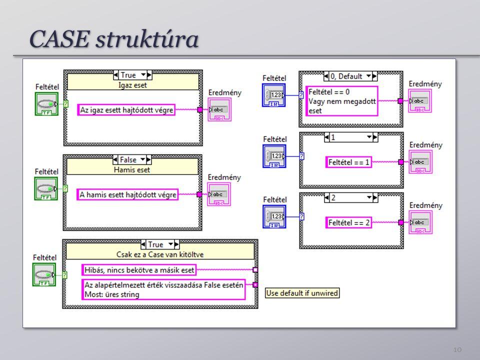 CASE struktúra 10