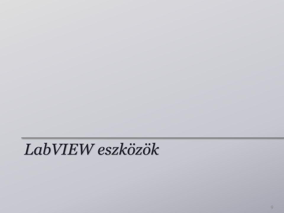 LabVIEW eszközök 9