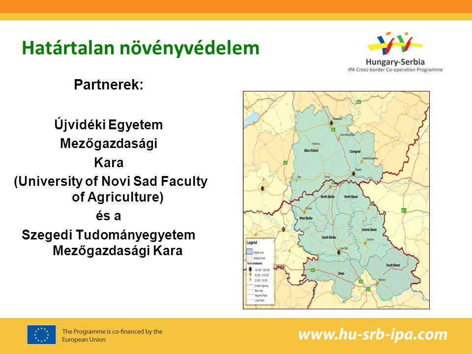 Határtalan növényvédelem Partnerek: Újvidéki Egyetem Mezőgazdasági Kara (University of Novi Sad Faculty of Agriculture) és a Szegedi Tudományegyetem M