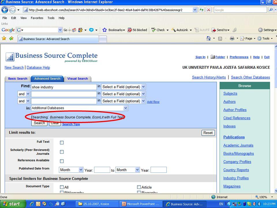 … přihlásíme se do My EBSCOhost. Search Alert (értesítés) emailben