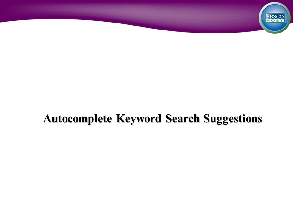 Autocomplete Keyword Search Suggestions