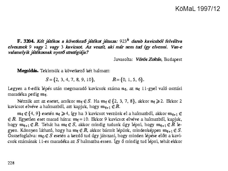 KöMaL 1997/12