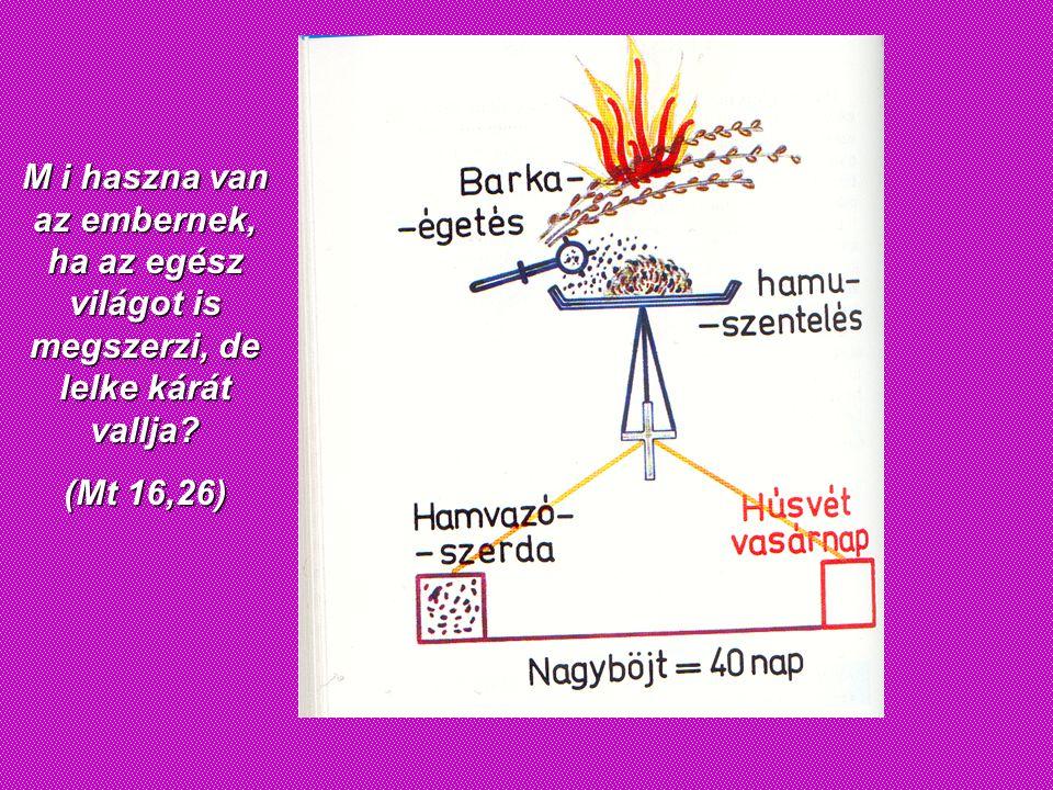 M i haszna van az embernek, ha az egész világot is megszerzi, de lelke kárát vallja? (Mt 16,26)