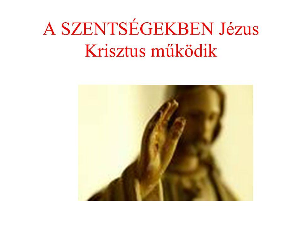 A mi pünkösdünk A püspök atya krizmával keresztet rajzol a homlokunkra és imádkozik értünk.