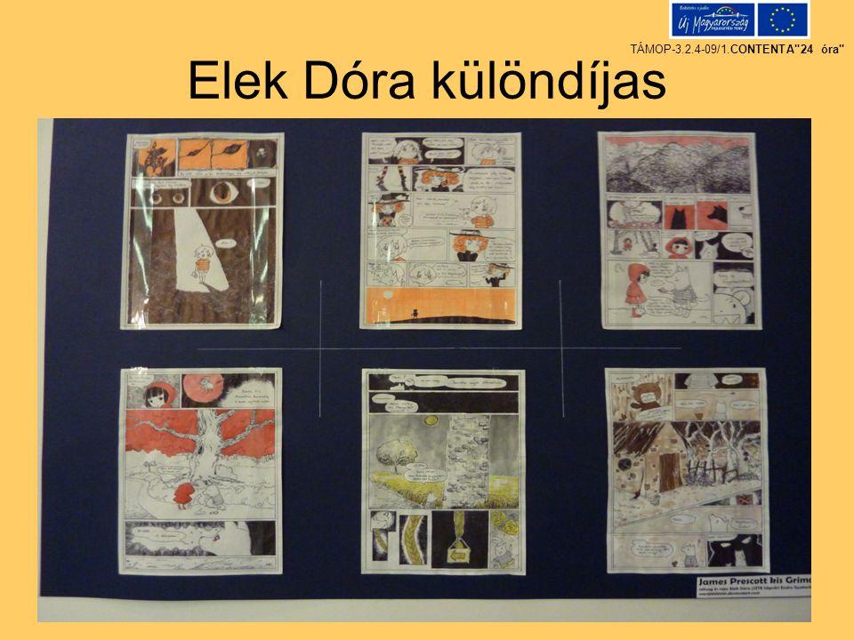 Elek Dóra különdíjas TÁMOP-3.2.4-09/1.CONTENTA
