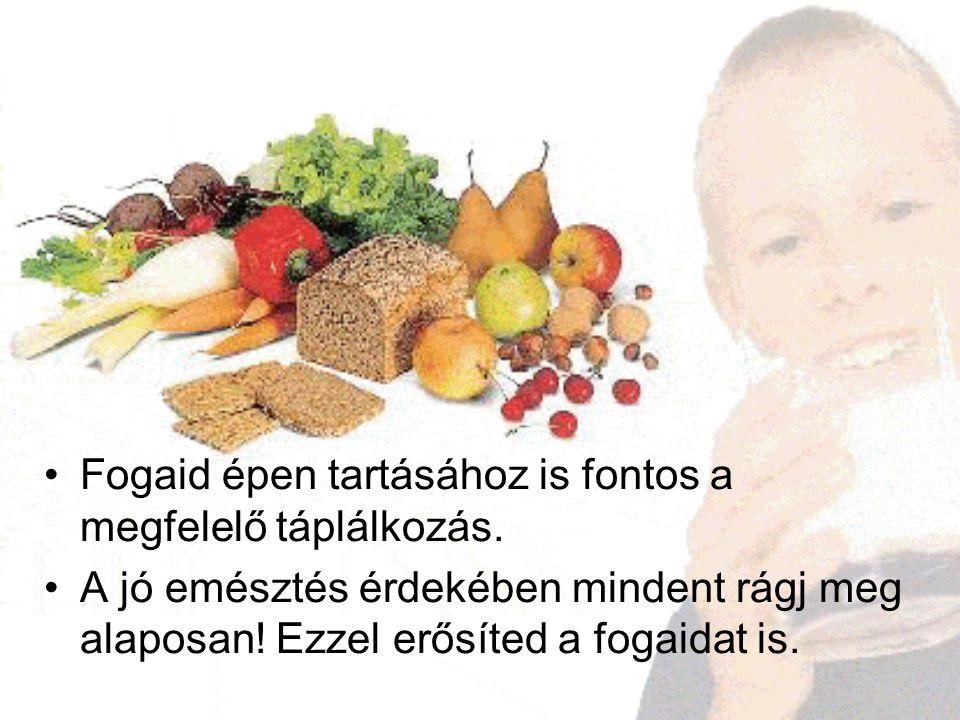 Fogaid épen tartásához is fontos a megfelelő táplálkozás.