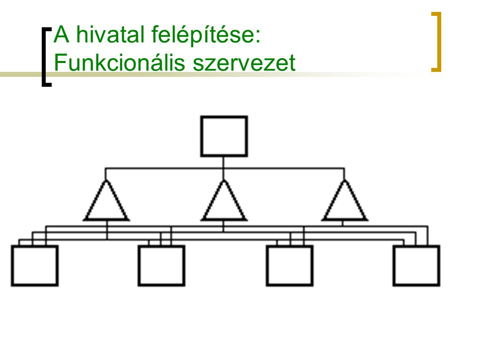 A hivatal felépítése: Funkcionális szervezet