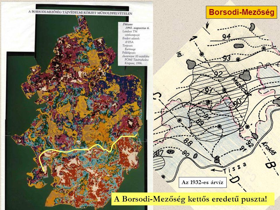 Az 1932-es árvíz Borsodi-Mezőség 5 km A Borsodi-Mezőség kettős eredetű puszta!
