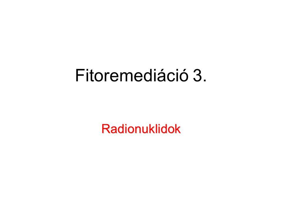 Fitoremediáció 3. Radionuklidok