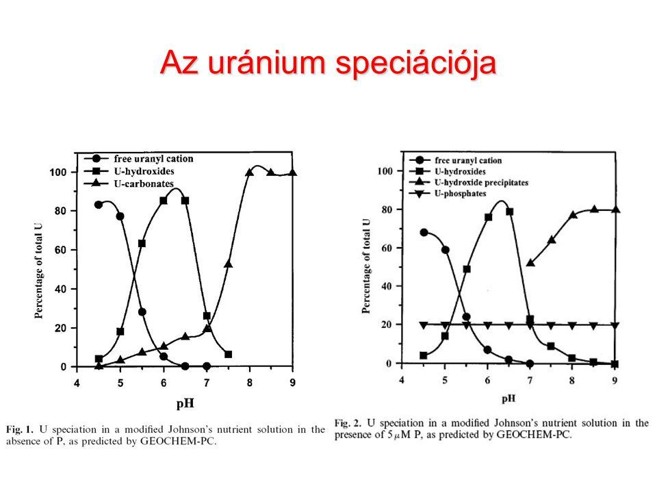 Az uránium speciációja