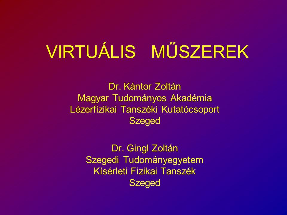 Dr.Kántor Zoltán Magyar Tudományos Akadémia Lézerfizikai Tanszéki Kutatócsoport Szeged Dr.