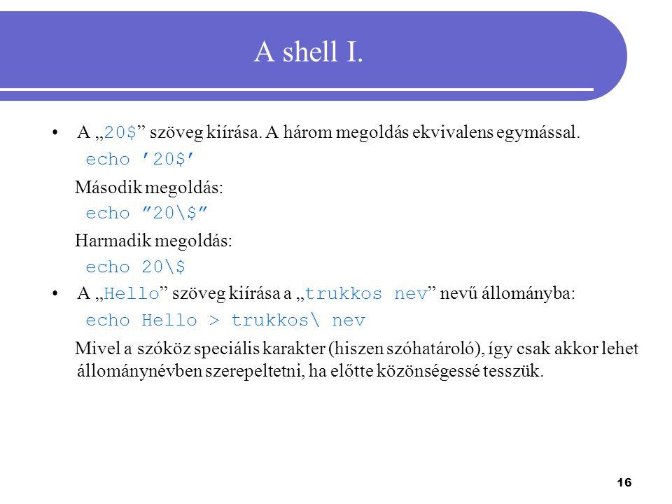 17 A shell II.