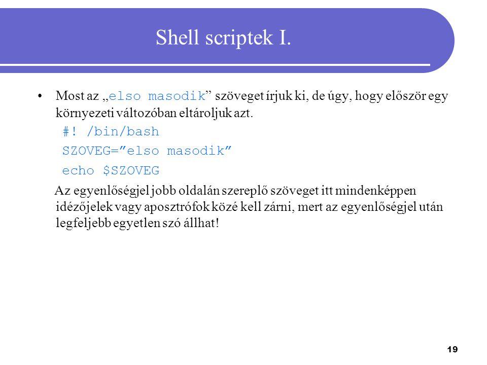 20 Shell scriptek II.