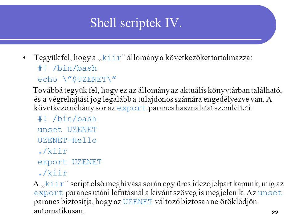 23 Shell scriptek V.