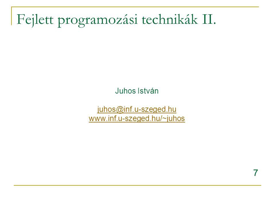 DOM,SAX,XSLT => JAXP XML feldolgozás és létrehozás http://java.sun.com/xml