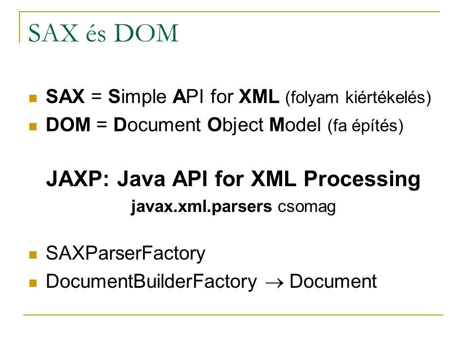 SAX cmd bin\env ant cd dist run sax src/xml/presentation.xml src/edu/…/SAX.java