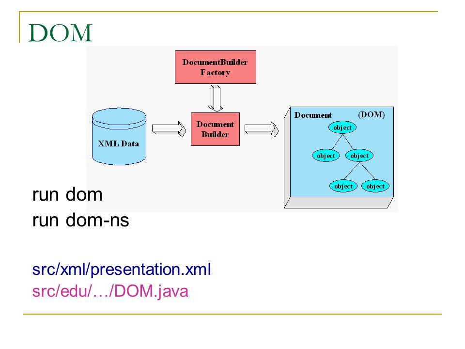 XSLT run xslt src/xml/book.xml (src/xml/book.xsl) src/edu/…/XSLT.java