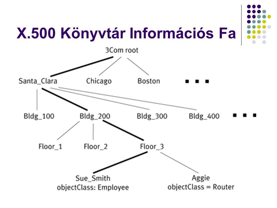 X.500 Könyvtár Információs Fa