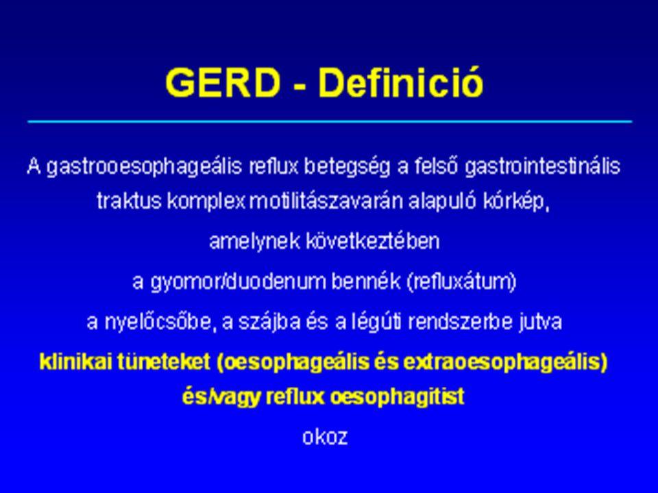 GASZTROENTEOLÓGIA Gastro oesophageal reflux disease- GERD Előadás vázlatok hallgatóknak Dr Jármay Katalin PhD Főiskolai Tanár