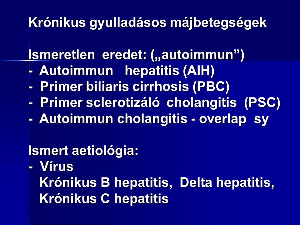 Májbetegség laboratóriumi diagnosztikája Májsejtek szintetizáló képességére utal: Májsejtek szintetizáló képességére utal: Prothrombin idő (norm.